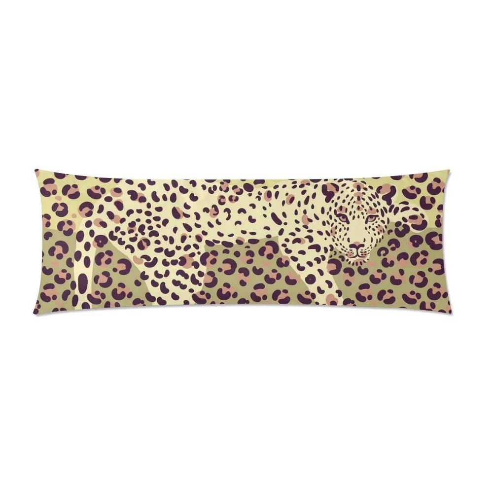 mkhert color leopard print body pillow pillowcase pillow protector cushion cover 20x60 inch