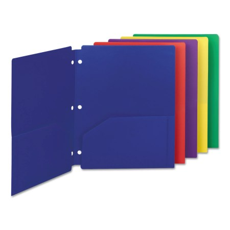 Smead Campus.org Poly Snap-In Two-Pocket Folder, 11 x 8 1/2, Assorted, 10/Pack