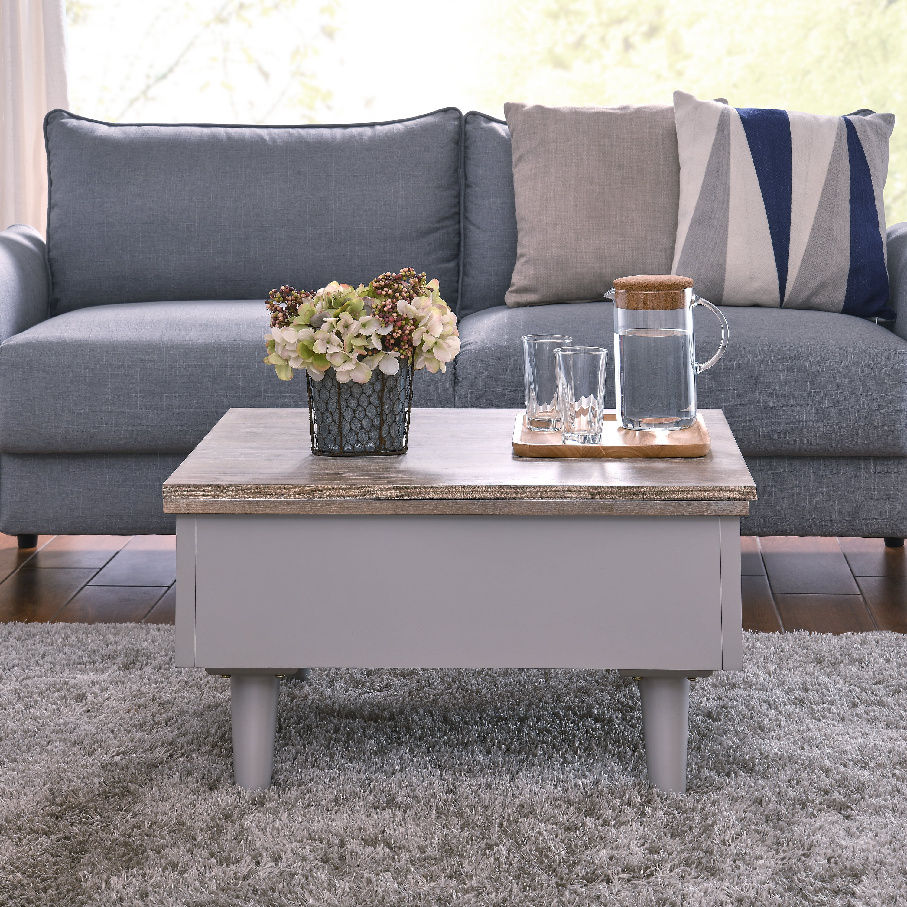 okasl convertible storage coffee table to dining table