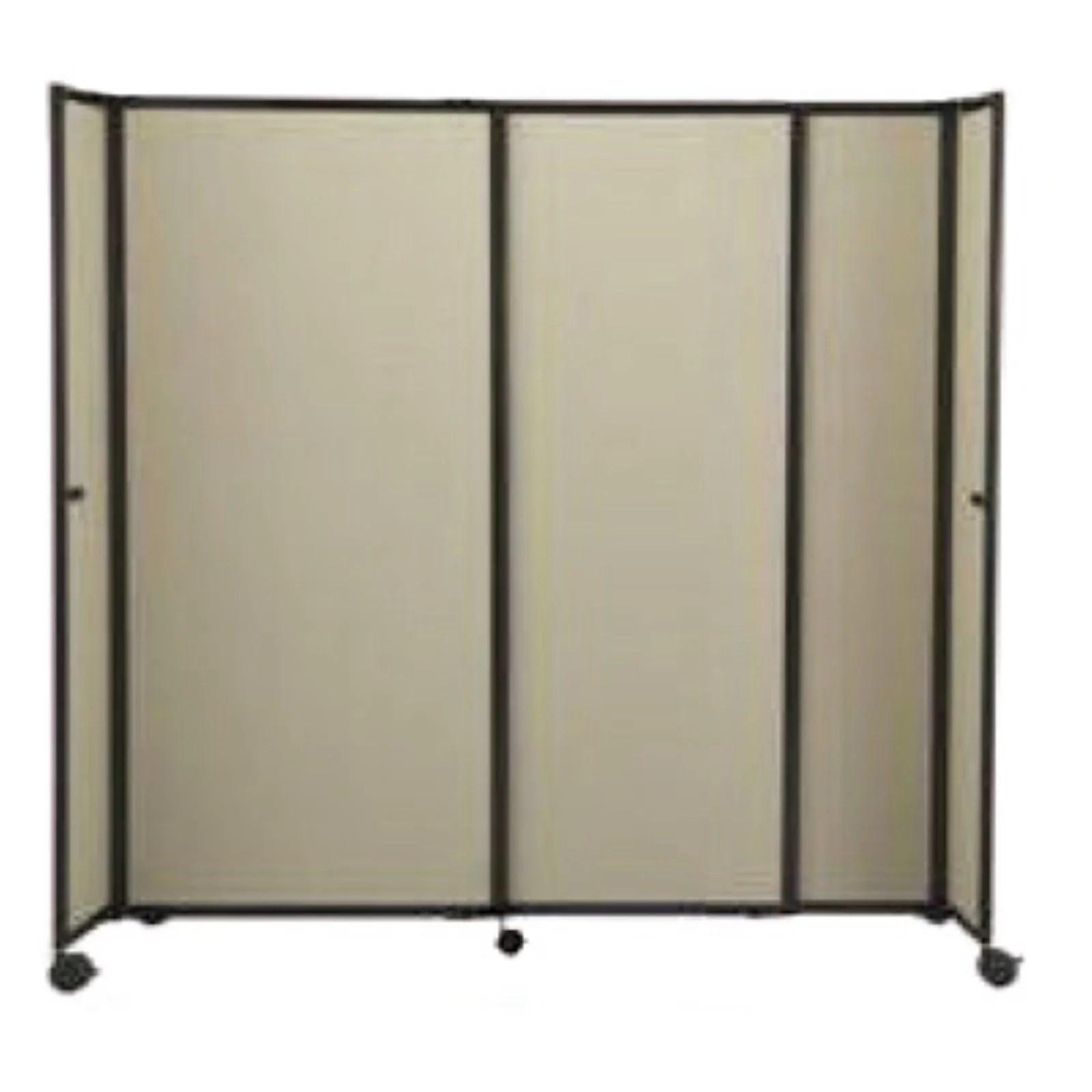 versare 7 foot 2 inch wide straightwall mobile accordion room divider 360