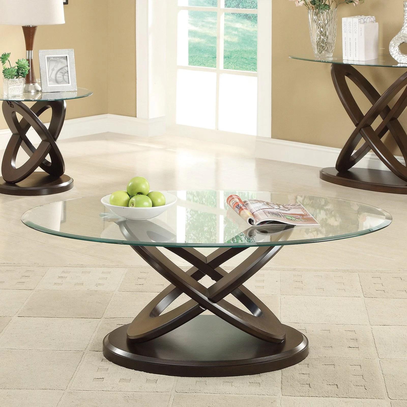 coaster furniture glass top oval coffee table walmart com
