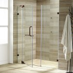 Vigo 66 Frameless Shower Door 3 8 Clear Glass Brushed
