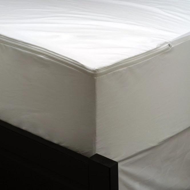 Allerease Waterproof Zippered Mattress Protector Vinyl Free Hypoallergenic