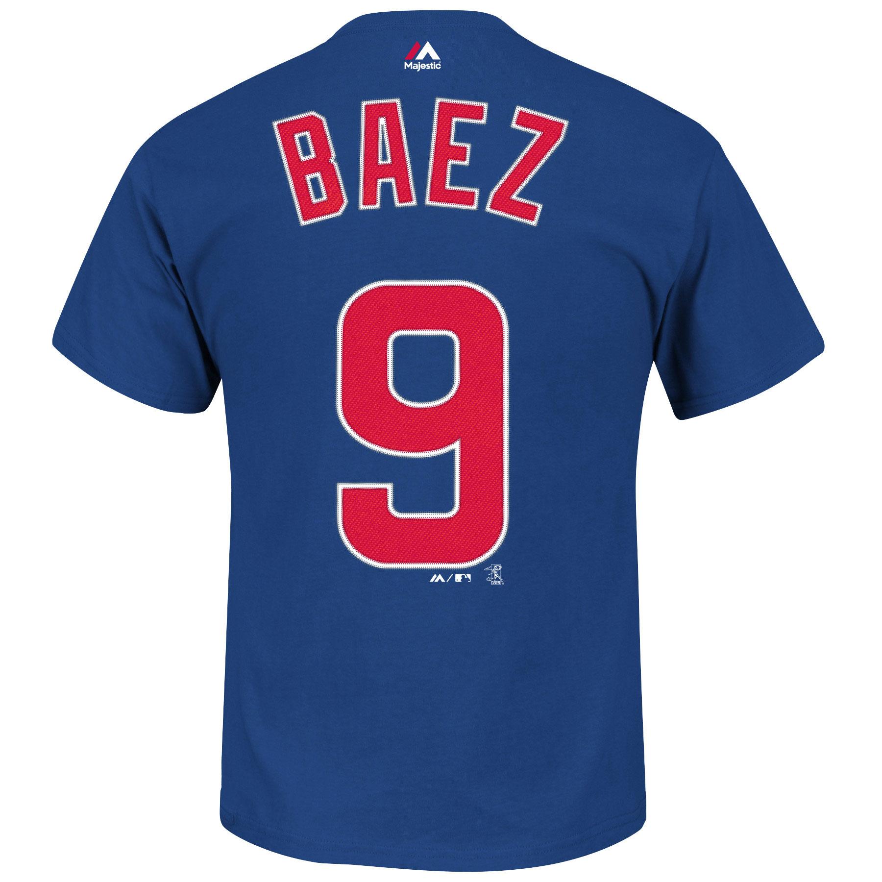 Chicago Cubs Javier Baez MLB Player Name & Number T-Shirt ...