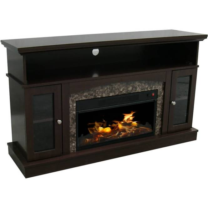 Detail Media Electric Fireplace Tvs Up To 50 Black 42 Mantle Decor Flame Tv Stand New