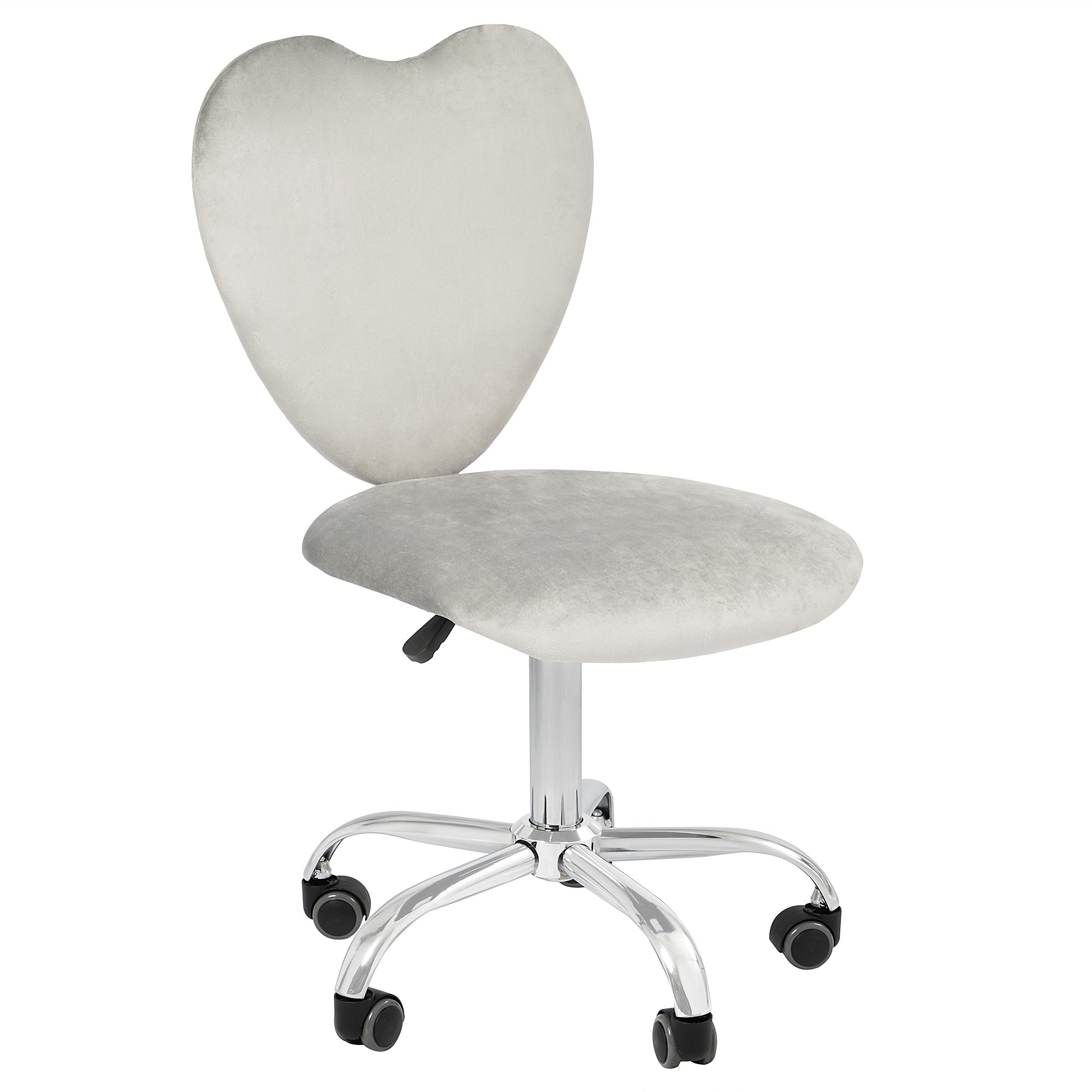 impressions heart three sixty degrees swivel vanity chair with adjustable height movable and wheelbase