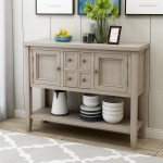 Buffet Sideboard Console Table With Drawers Wood Buffet Sideboard Desk With Bottom Shelf Sideboards And Buffets For Living Room Entryway Hallway Durable Sideboard Buffet Cabinet Lime White R433 Walmart Com Walmart Com