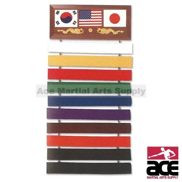 10 level martial arts karate taekwondo belt display rack