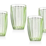 Twill Green Set Of 4 Highball Glasses 14 Oz Walmart Com Walmart Com