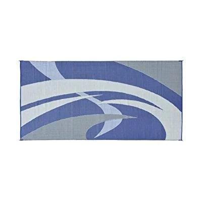 reversible mats 159183 blue grey 9 x18 rv patio mat