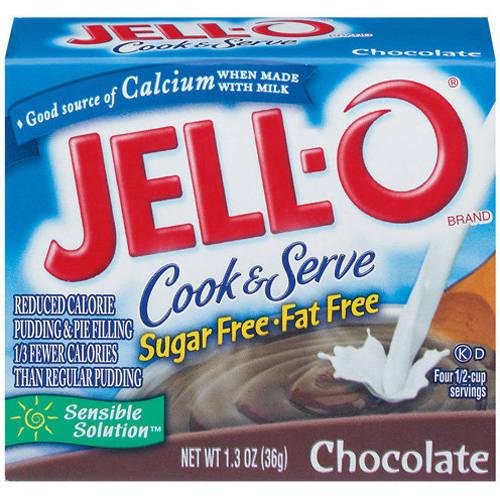 JellO Sugar Free Fat Free Chocolate Cook Serve