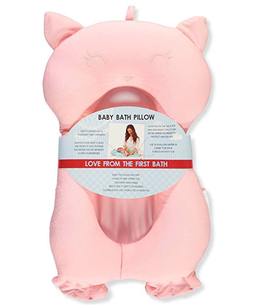 baby bath tub pillow pad lounger air cushion floating soft seat pink