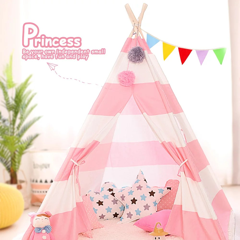 lowestbest tents for girls play princess tents for girls outdoor indoor teepee tents for kids birthday gift princess castle play house for