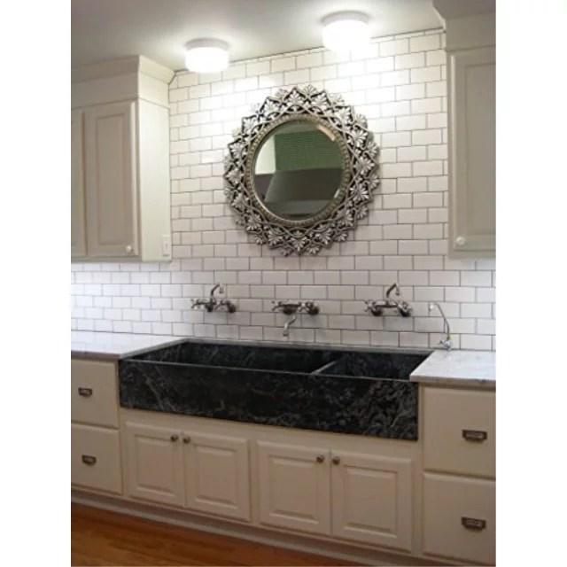 white 3x6 subway tile backsplash kitchen walls countertop bathroom herringbone ceramic tile sample walmart com
