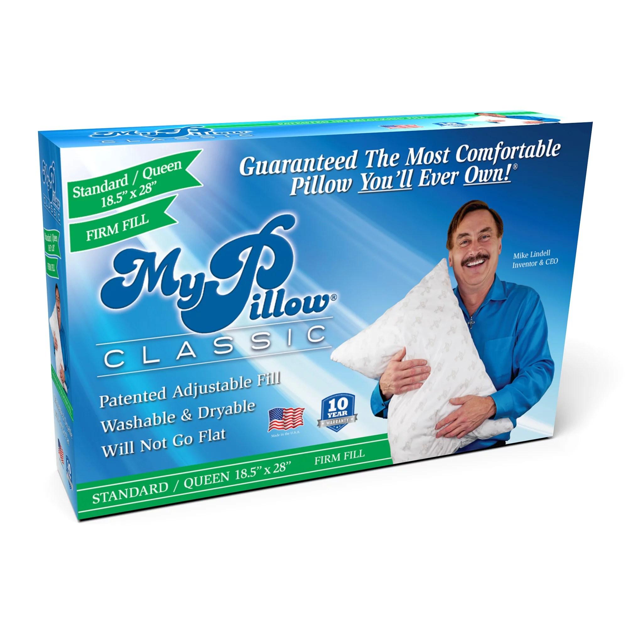 mypillow classic queen size pillow firm support walmart com