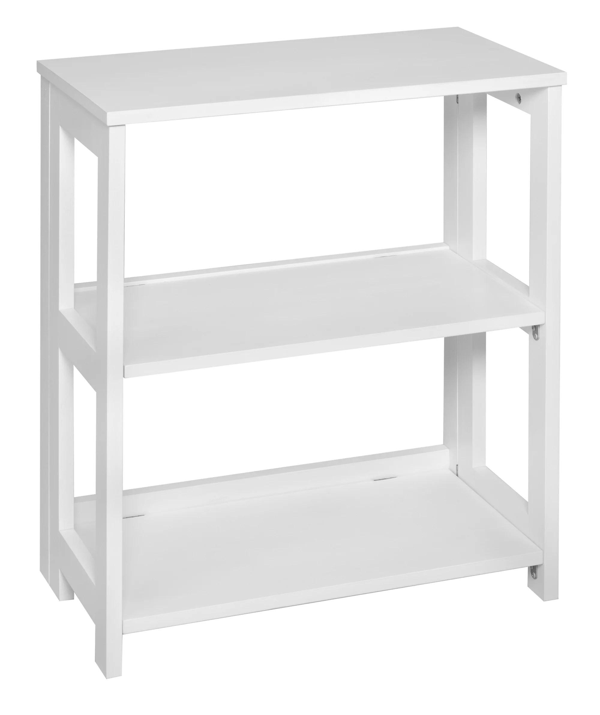 flip flop 28 high folding bookcase white
