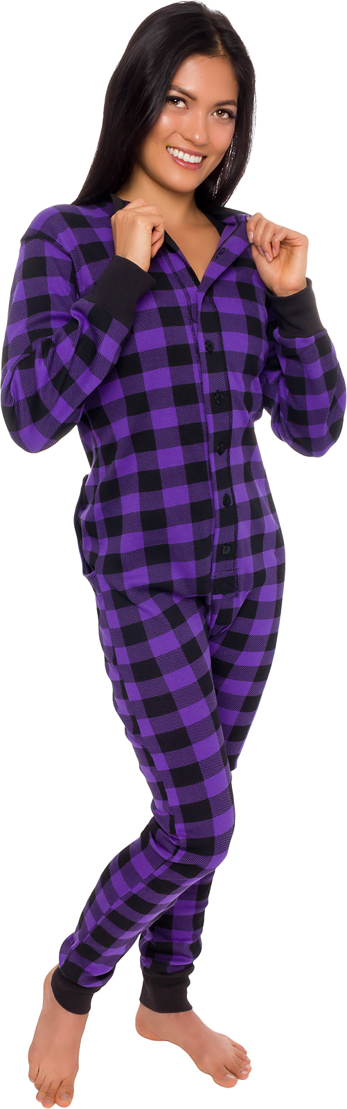 silver lilly silver lilly unisex adult plaid thermal one piece union suit pajamas w drop seat walmart com walmart com