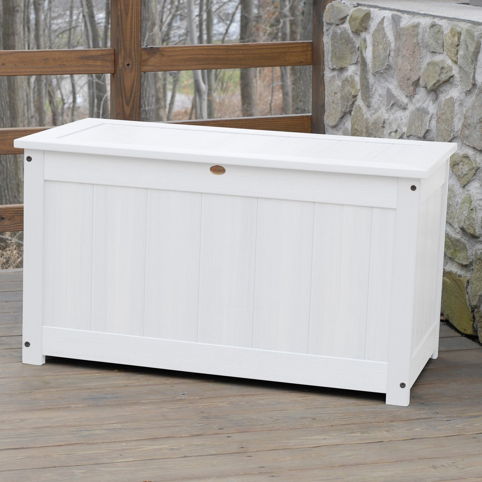 highwood 42 in large recycled plastic 100 gallon deck storage box