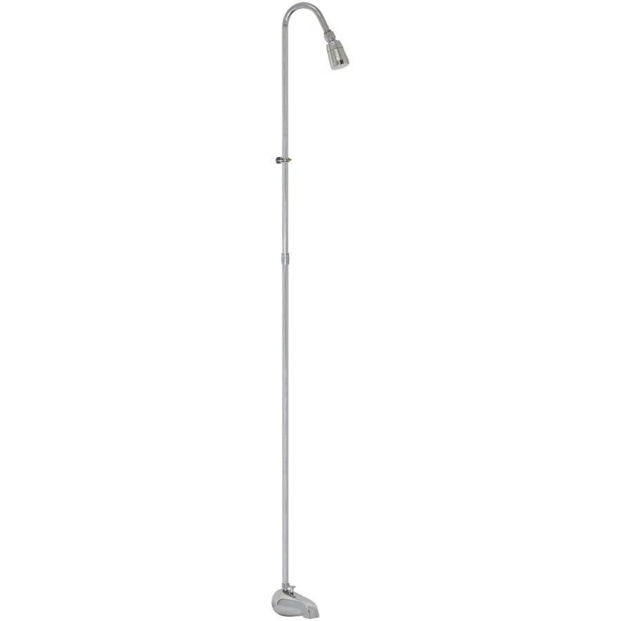 ez flo 11120 spout type portable add on shower unit chrome