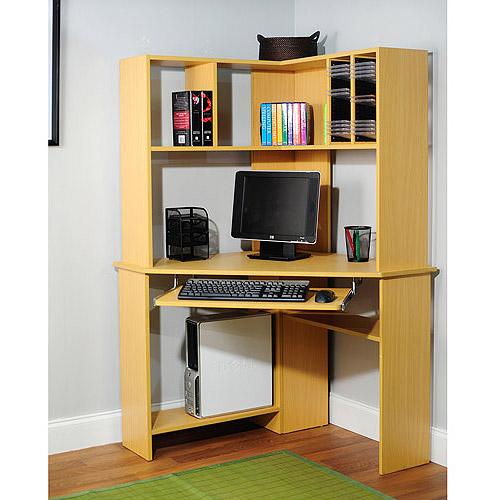 morgan computer desk with hutch natural