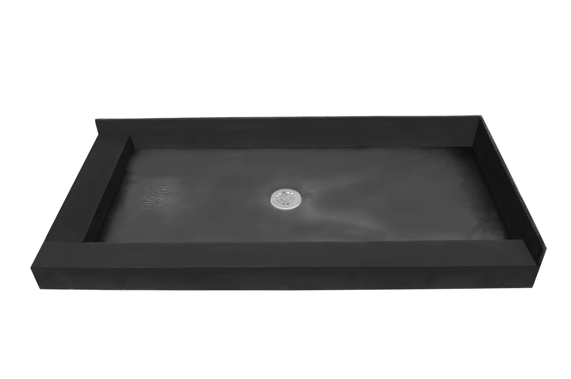 tile redi 4248cdl black redi base 42 x 48 rectangular shower base