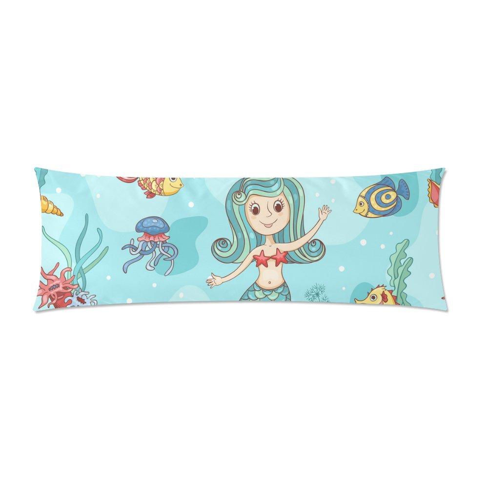 mkhert beautiful mermaid body pillow pillowcase pillow protector cushion cover 20x60 inch