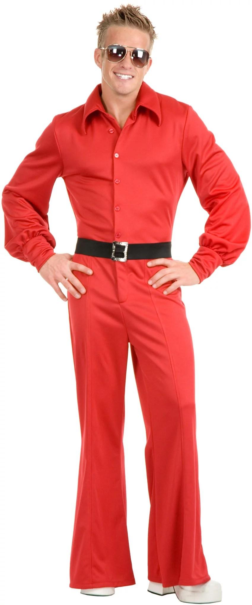 Adult Mens Red Studio 54 Disco Jumpsuit Costume Walmartcom