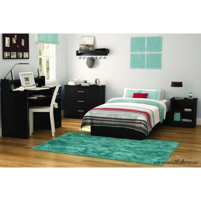 South Shore Smart Basics 4 Piece Twin Bedroom Set Multiple