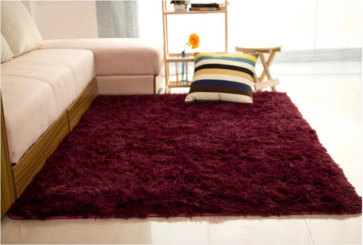 94 X64 2pcs 47 X 32 Soft Fluffy Floor Rug Anti Skid Shag Shaggy Area Rug Bedroom Dining Room Carpet Yoga Mat Child Play Mat