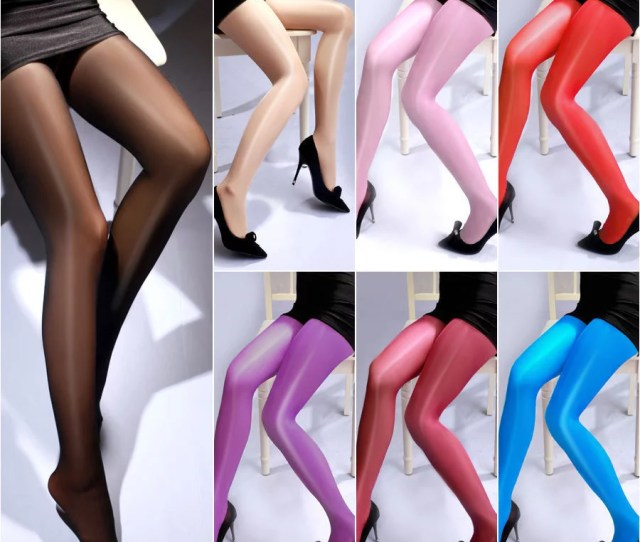 Fashion Women Sheer Oil Shiny Glossy Classic Pantyhose Sexy Tights 222
