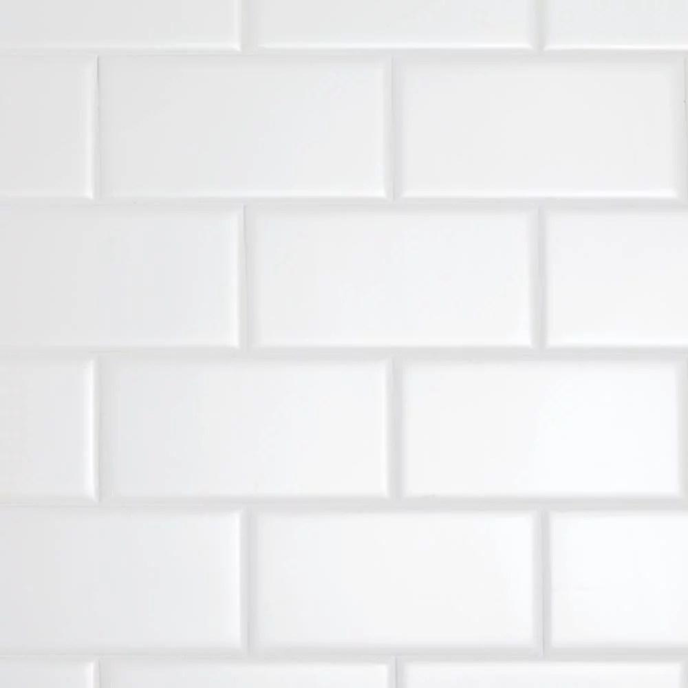 daltile restore 3 x 6 ceramic bright white subway tile 12 5 sq ft case walmart com