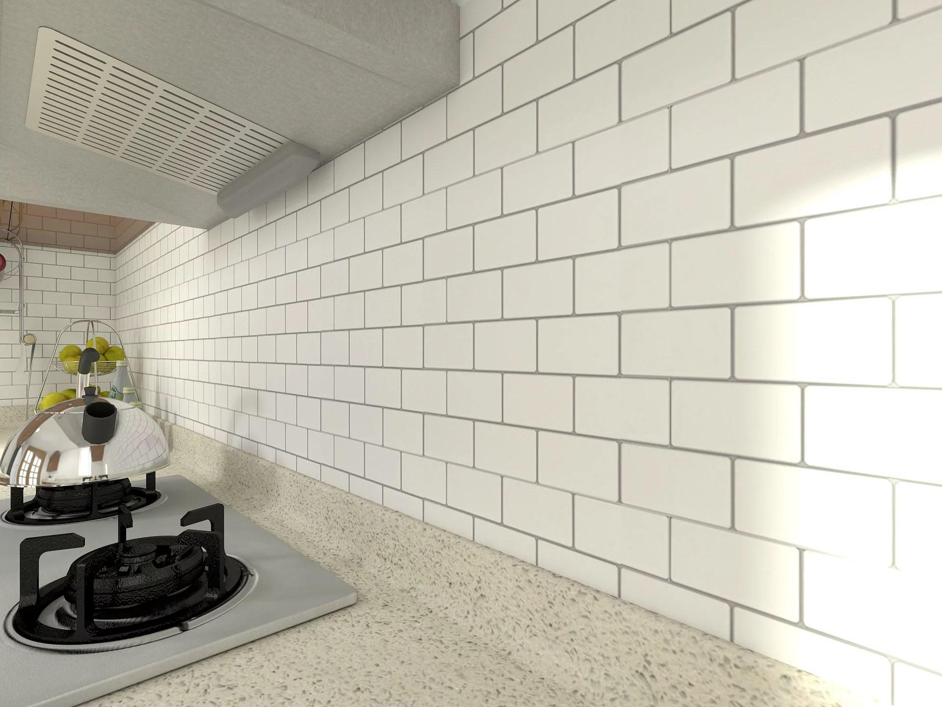 long king tile peel and stick backsplash tile premium anti mold tile for kitchen in white subway tile 12 x12 10 pack