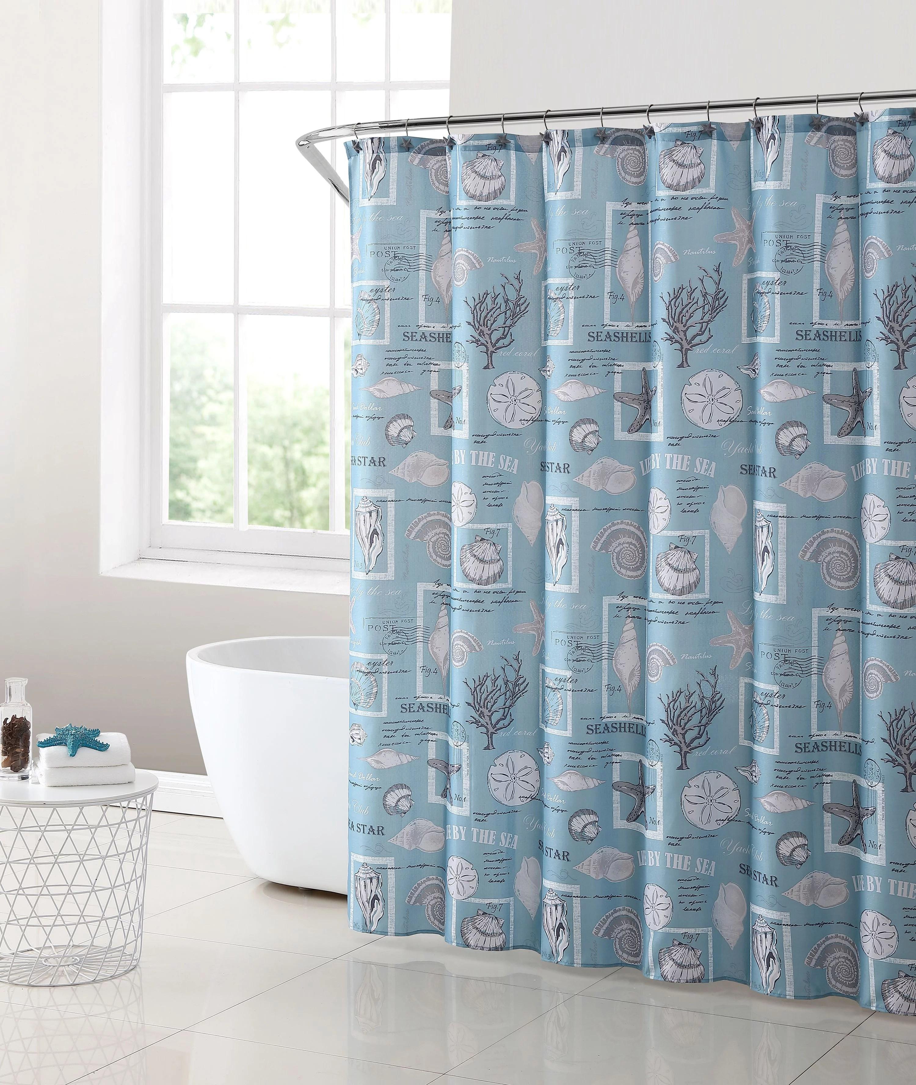 mainstays coastal shower curtain set 13 piece