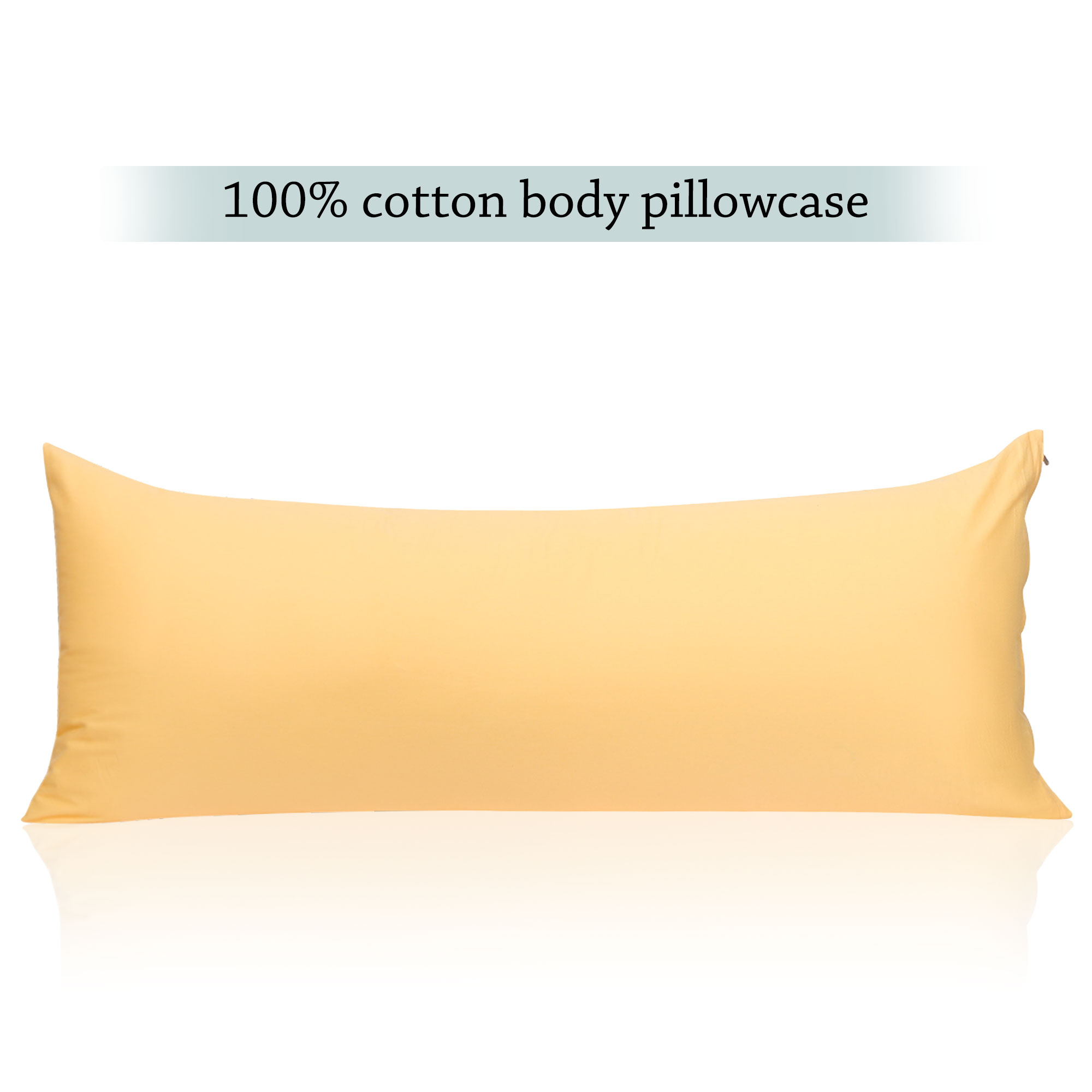 egyptian cotton body pillow case body pillow cover 1 each zippered pillowcase white 20 x 48 w l