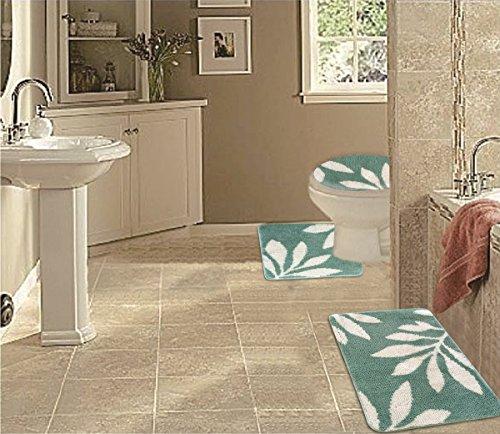 wpm 3 piece multi color bath mat set bathroom mat contour on farmhouse colors for bath mats walmart id=51040