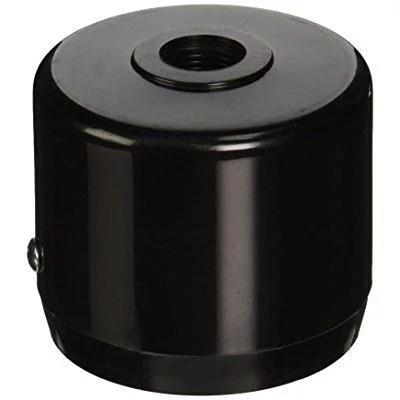 rab lighting mcap3b mighty post cap for 3 pipe 2 7 8 od black