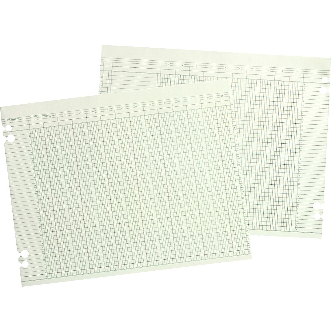 Wilson Jones Wljg Prepunched Ledger Paper Sheets
