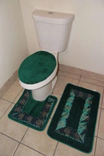 3pc 5 hunter banded bathroom set bath mat countour rug lid on farmhouse colors for bath mats walmart id=91190