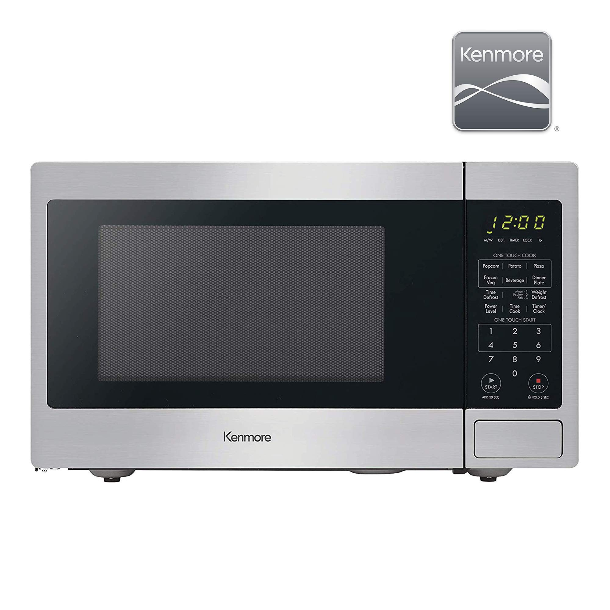kenmore 70913 countertop microwave oven 0 9 cu ft stainless steel