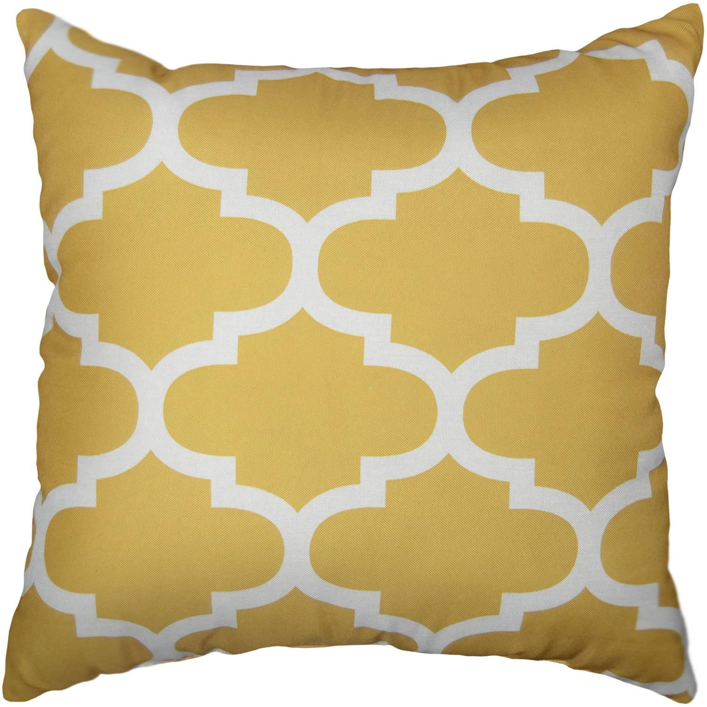 mainstays fretwork square decorative pillow 18 x 18 gold 1pc walmart com