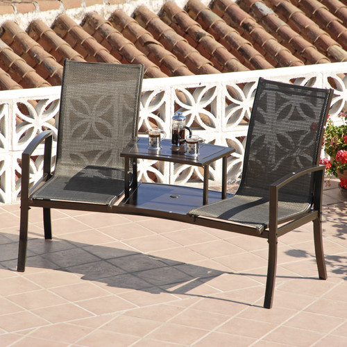 SunTime Outdoor Living Havana Steel Tete-a-Tete Bench ... on Suntime Outdoor Living  id=41337