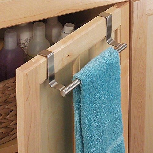 stainless steel towel holder without drilling kitchen towel racks hanging at the door of the kitchen cabinet or cupboard holder