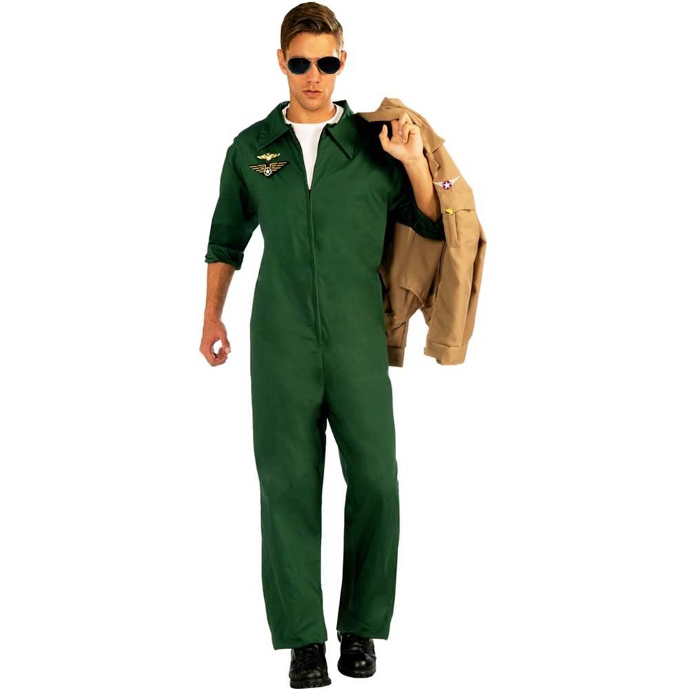 Aviator Green Jumpsuit Adult Costume Walmartcom