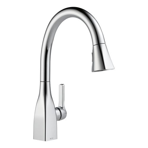 delta faucet 9159 cz dst trinsic single handle pull down kitchen faucet with magnetic docking champagne bronze