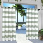 Exclusive Home Curtains 2 Pack Indoor Outdoor Stripe Cabana Grommet Top Curtain Panels Walmart Com Walmart Com
