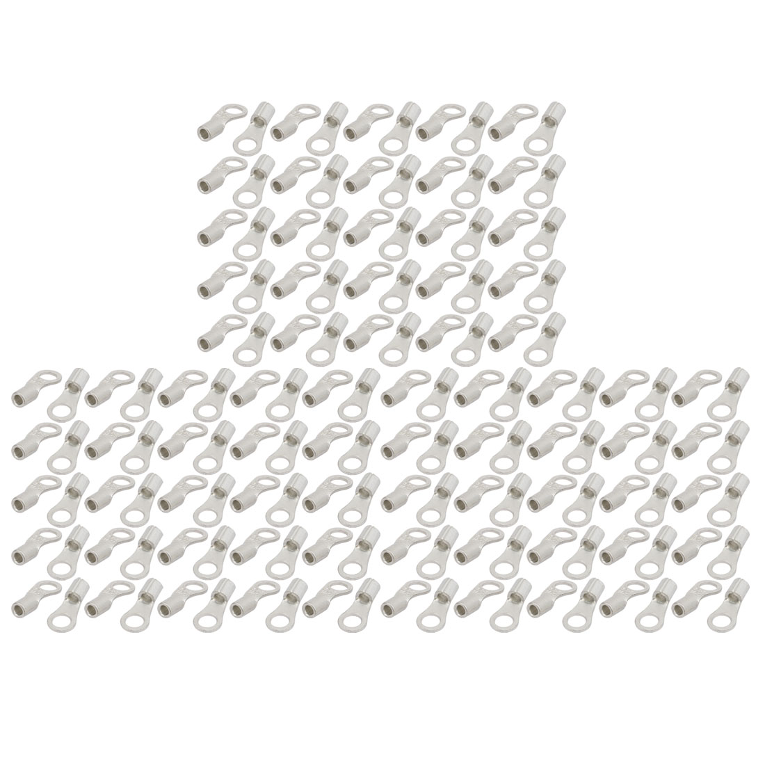 150pcs Awg14 12 Round Rnb3 5 5 Non Insulated Spade Wire