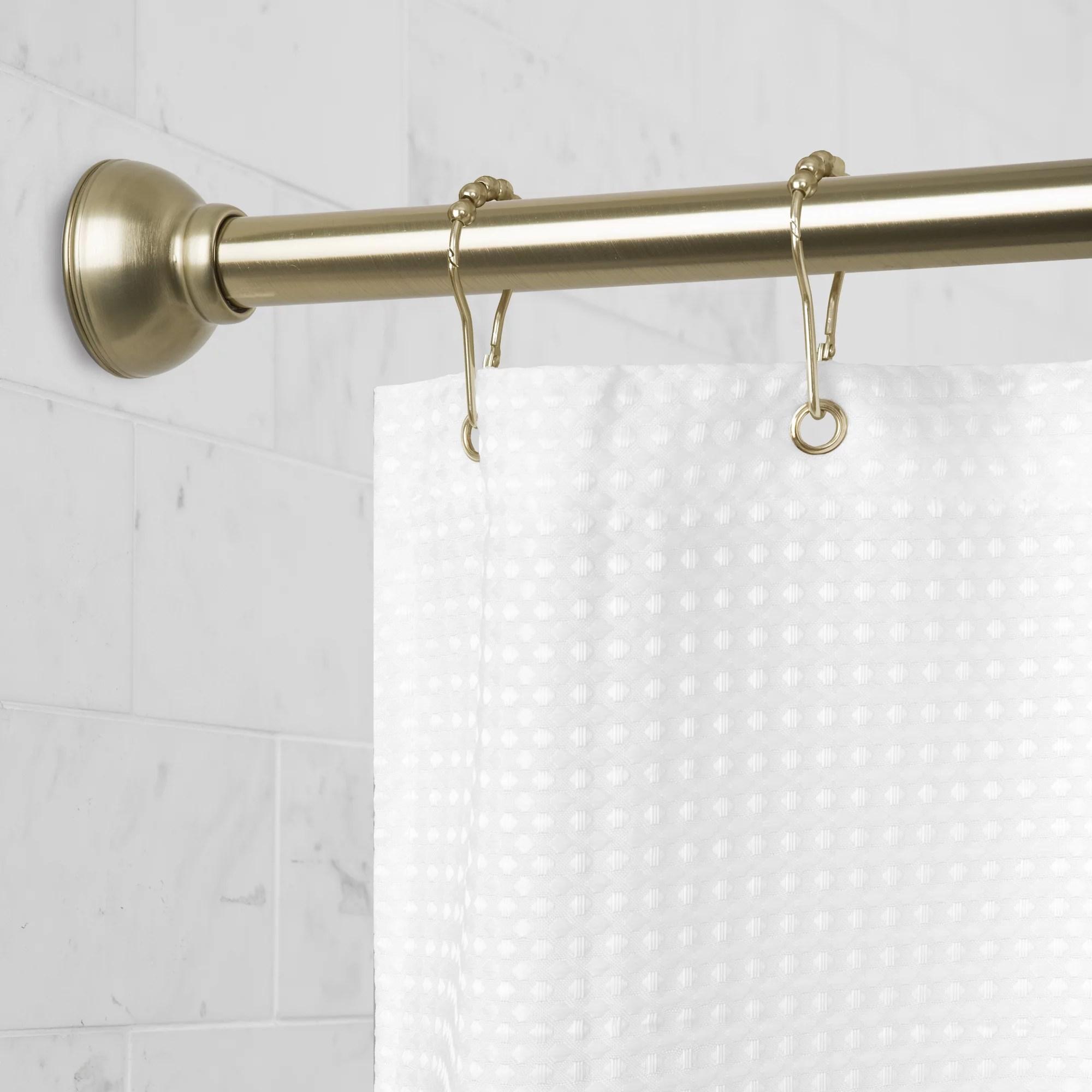 better homes gardens easy hang adjustable 72 antique brass shower tension rod 1 each