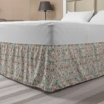 Modern Bed Skirt Abstract Dots And Bars Pattern In Colorful Design Contemporary Concept Elastic Bedskirt Dust Ruffle Wrap Around For Bedding Decor 4 Sizes Pale Grey And Multicolor By Ambesonne Walmart Com