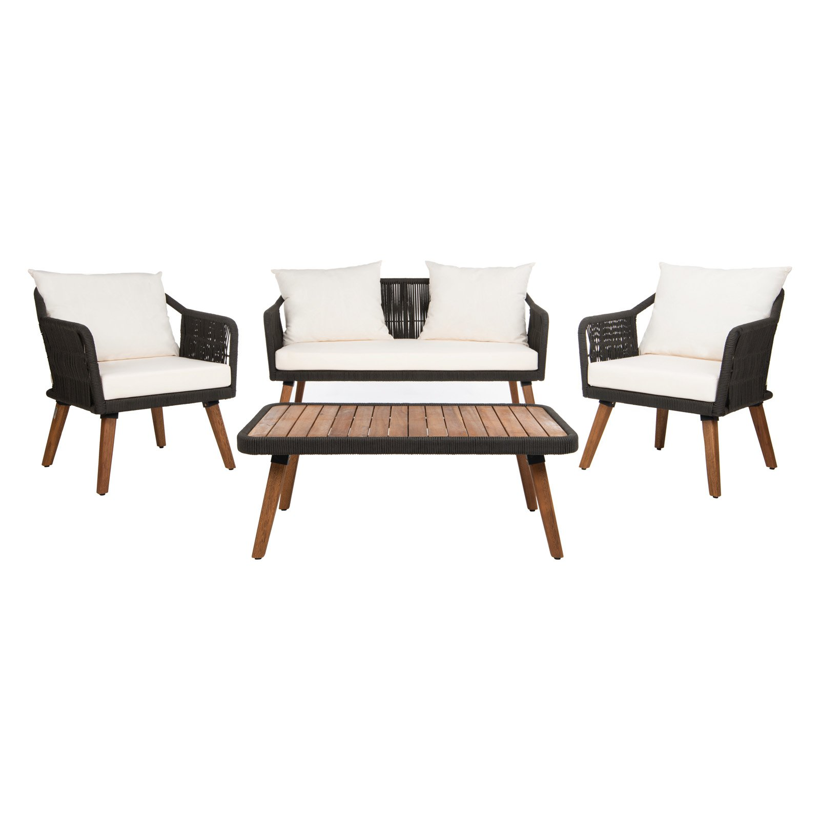 Safavieh Raldin Rope 4 Piece Patio Conversation Set ... on Safavieh Raldin  id=22049