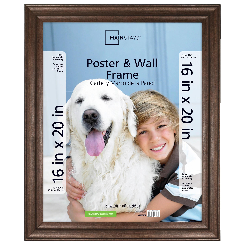 mainstays 16 x 20 casual bronze poster frame walmart com
